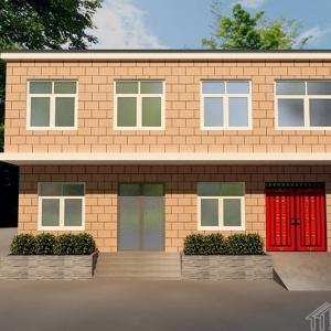 河南农村二层H钢结构自建房施工现场亚博yabo88下载