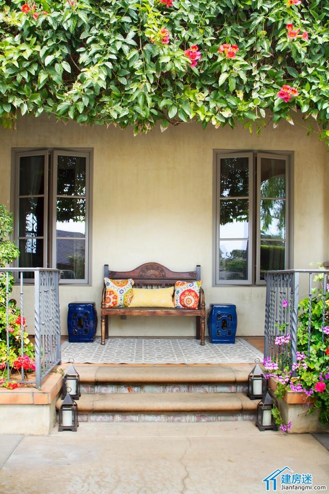 新农村自建房设计图一楼门庭走廊效果图喝茶看书凉亭参考
