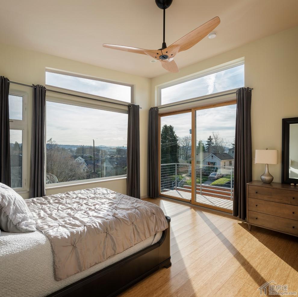 新农村自建房卧室装修效果图,卧室铺竹地板效果图