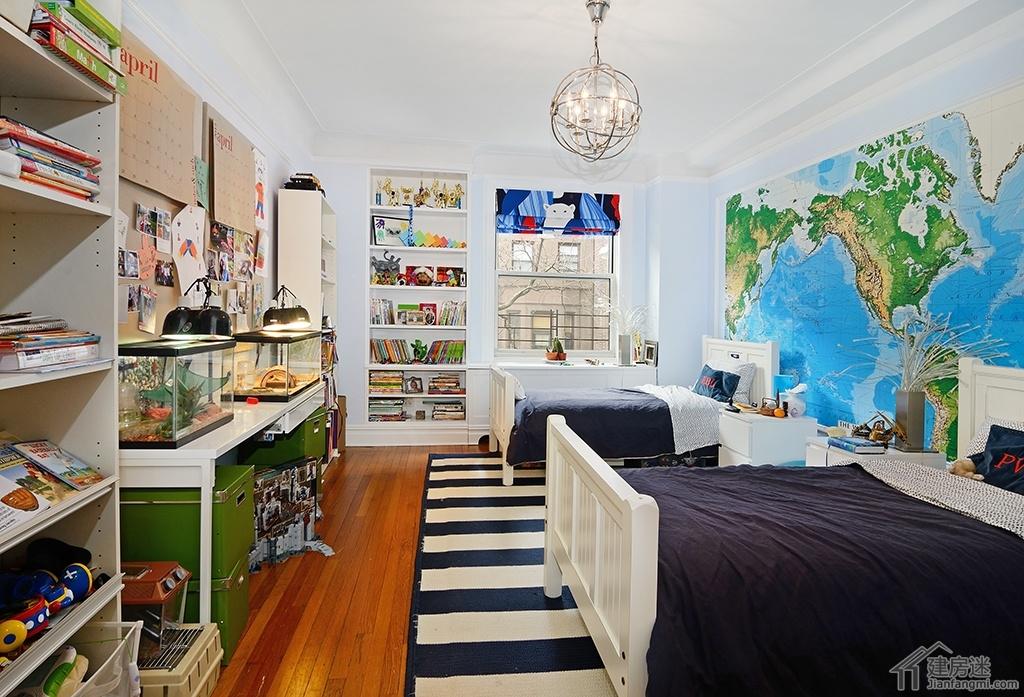 美式风格男孩儿童房装修设计效果图,怎么样布置男孩的房间?