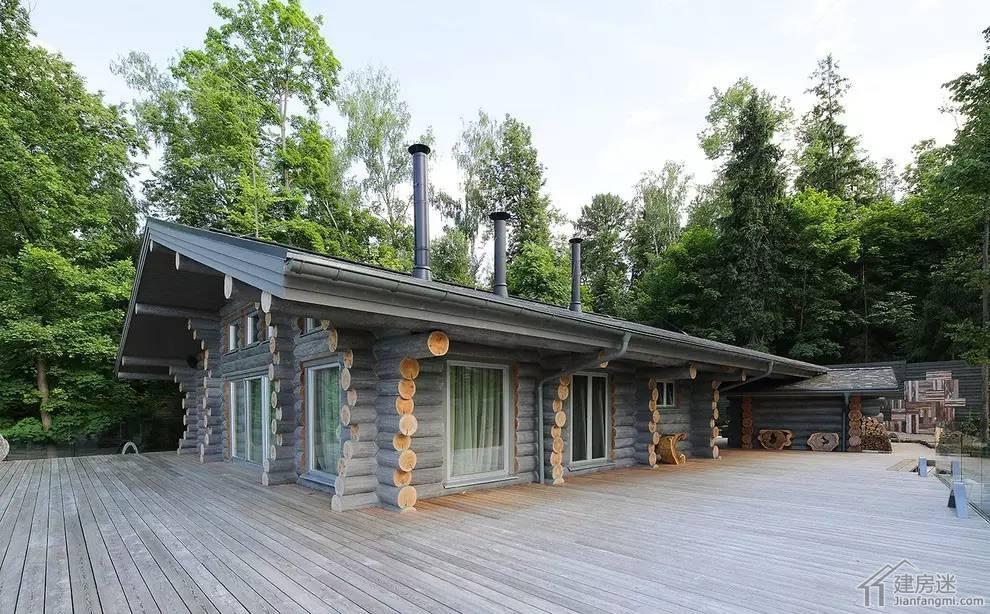 重木结构房屋欣赏之莫斯科私人小木屋