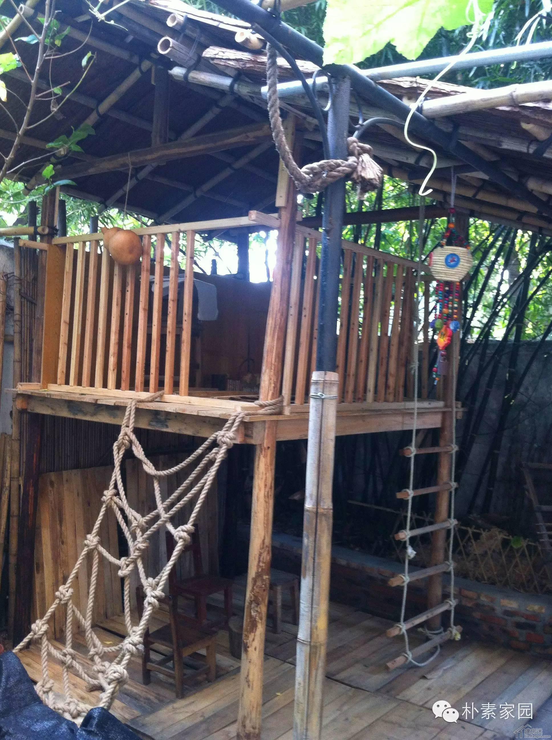 朴素家园--自己动手在庭院搭小木屋建成记