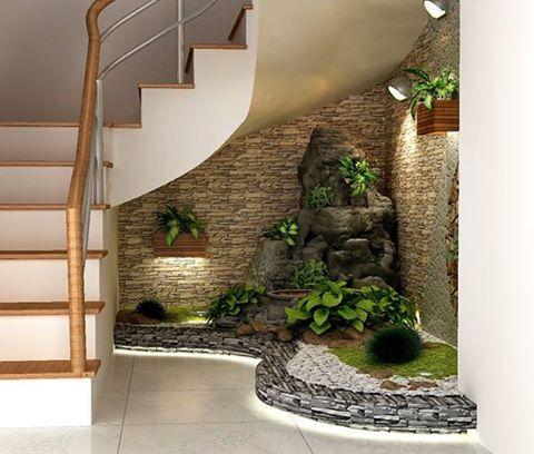 自建房以及复式楼室内楼梯下景观怎么样做比较好?