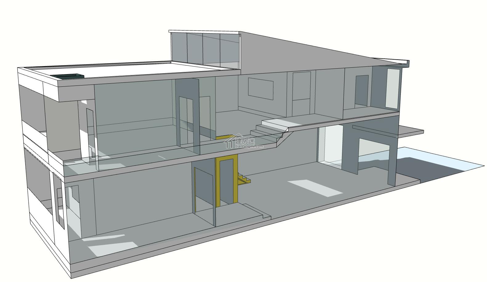 自己5.7x24米的宅基地设计图