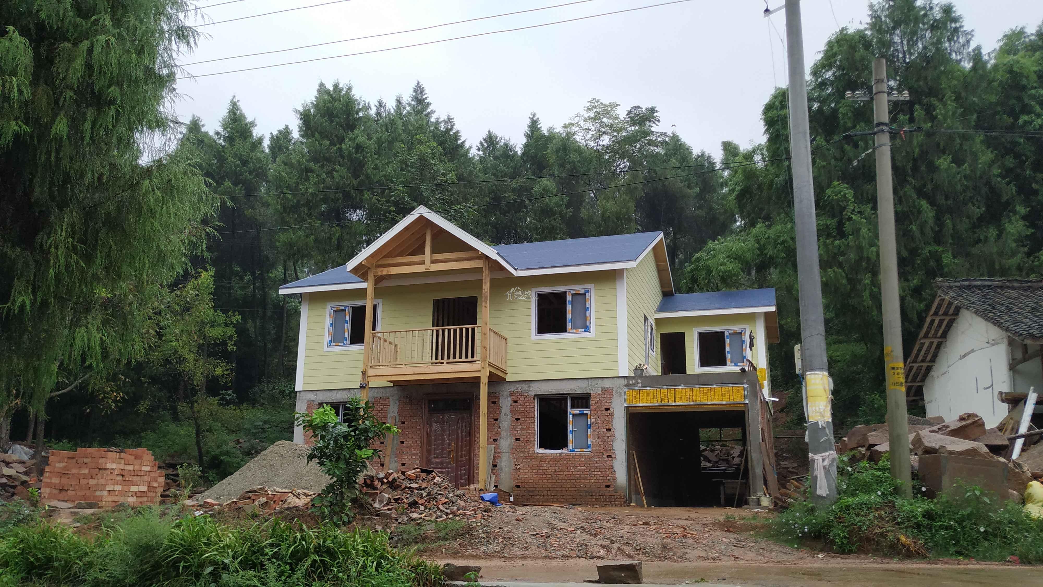 四川22天120平米一层砖混二层木结构房屋诞生记-详细费用表更新