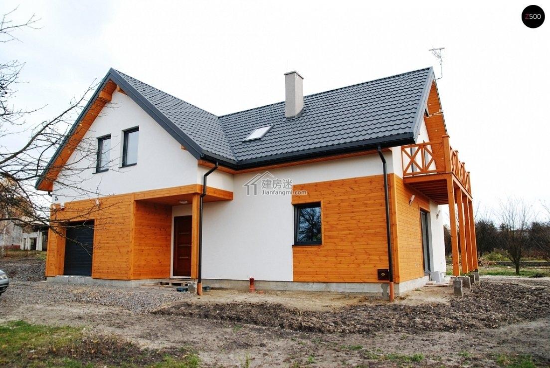 农村自建房欧式风格14米X10米一层半小户型尖顶亚博体育苹果下载中心设计图含实拍图及视频